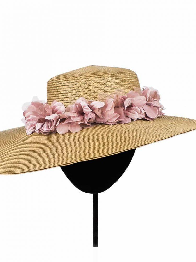 tocado_pamela_bronce_sombrero_flores_mario_salafranca